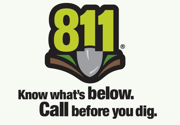 Call 811 before you dig. Know what's below.